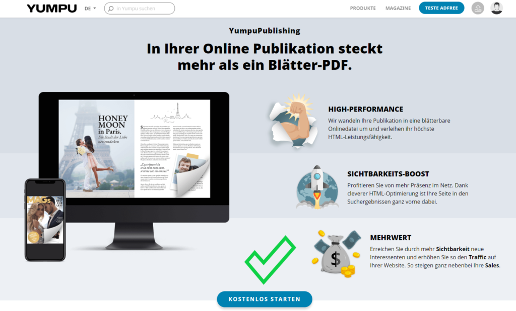 Yumpu die Alternative zu Issuu