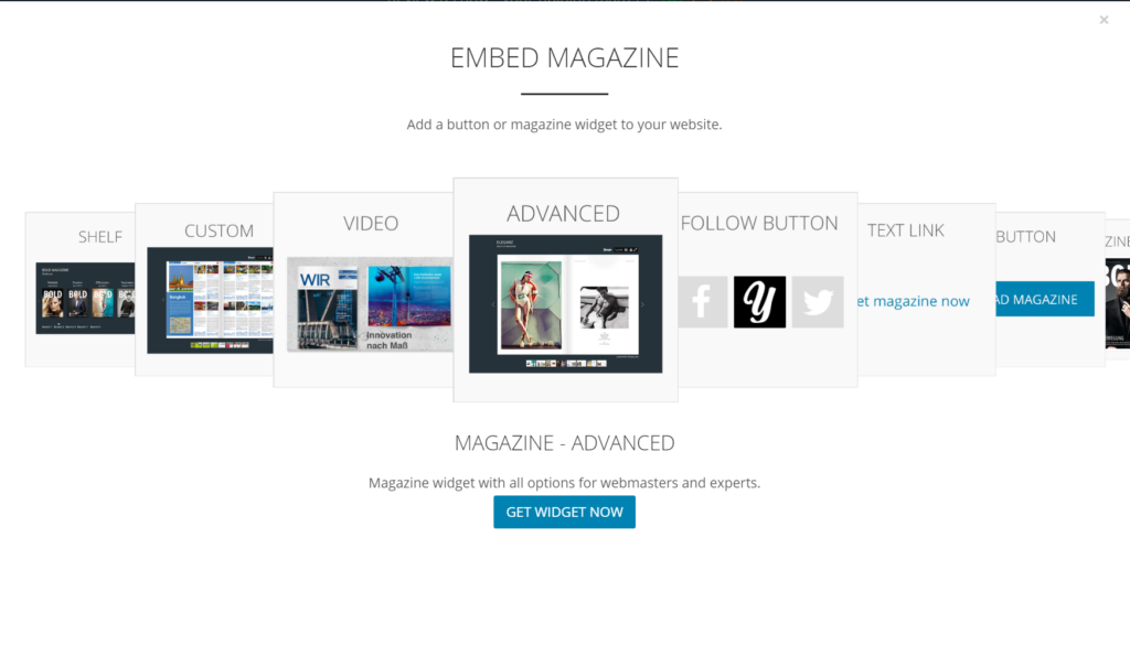 Embed Magazin Advanced