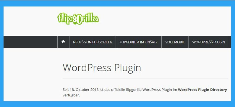 flipgorilla wordpress plugin